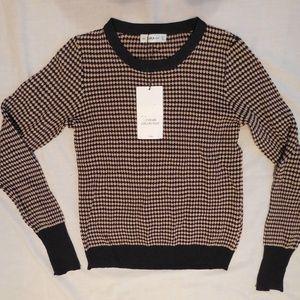 Zara Knitted Shirt Size Small Geometric Print